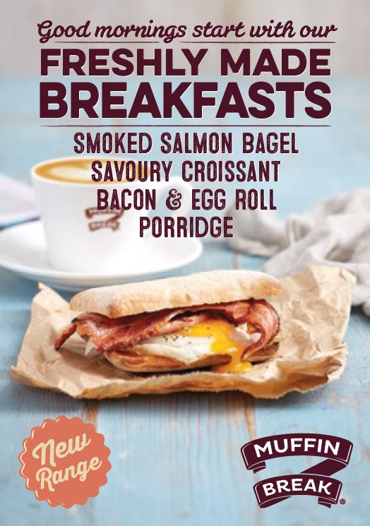New breakfast range from Muffin Break