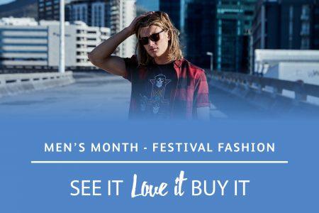 Men's month full on festival fashion