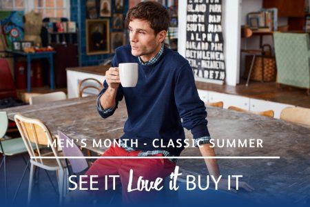Men's month – Debenhams classics