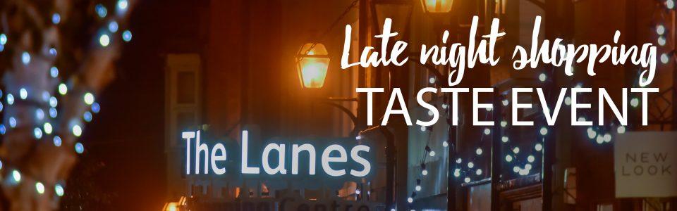 Lanes late night taste event