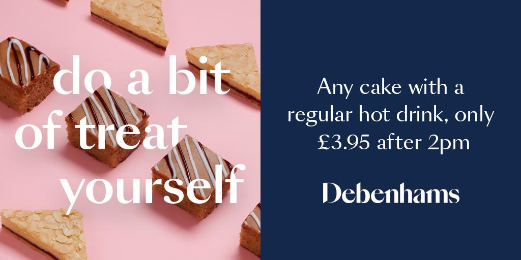 Debenhams afternoon treat offer
