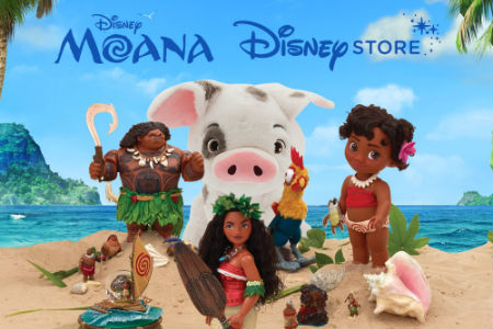 Moana now at the Disney Store!