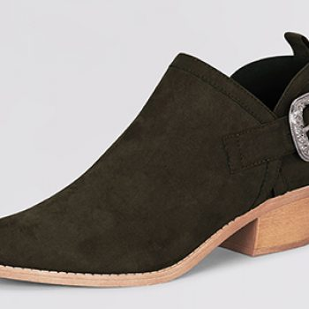 new look denim buckle ankle boot 29.99