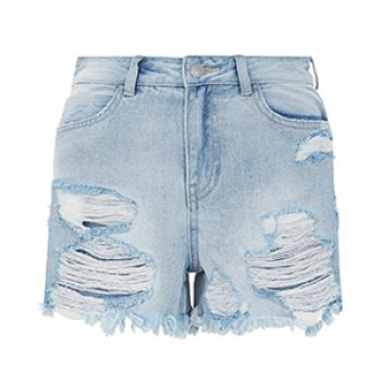 new look denim distressed shorts 19.99