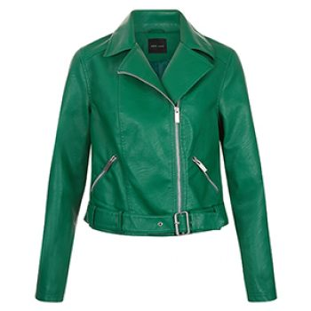 new look green biker jacket 39.99