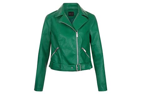 new look green biker jacket 39.99