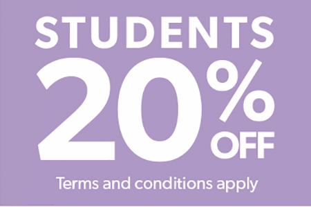 Order your student discount card now! Valid until 31st Dec ! or download the application form!