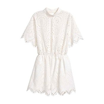 h&m broderie anglaise playsuit - 49.99