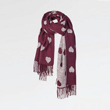 heart scarf fat face