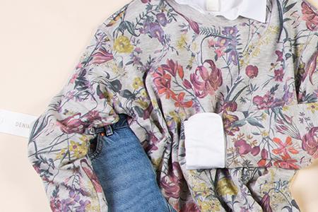 h&m floral jumper