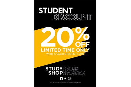 blue inc student 20% off