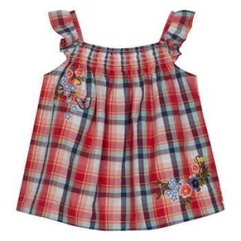 Mantaray checked top- Debenhams - kids summer