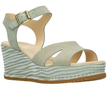 akilah eden light green wedge sandal - clarks - casual summer