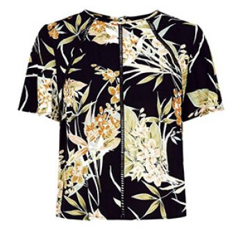 black floral top - new look - casual summer