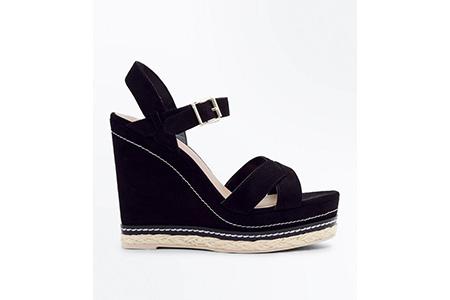 black wedge heels - new look - bold summer