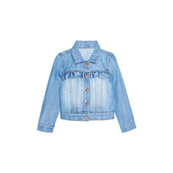 girl denim ruffle jacket - primark - kids summer