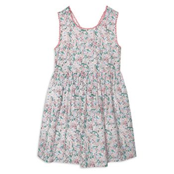 girl pink woven dress - primark - kids summer