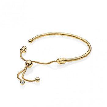 gold sliding bracelet - pandora - casual summer