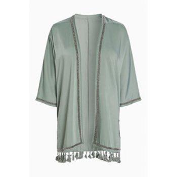 khaki tassle kimono top - next - time to party