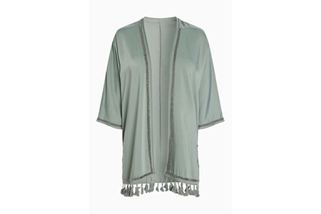 khaki tassle kimono top - next - time to party