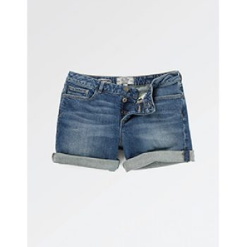 mid wash denim short - fat face - casual summer