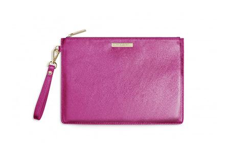 pink clutch bag- Katie Loxton - bold summer