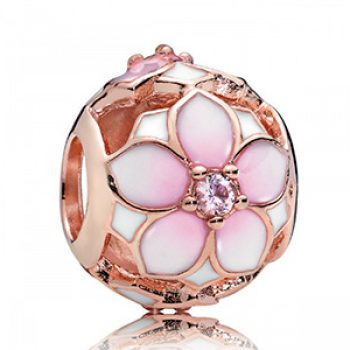 rose gold flower charm - pandora - casual summer