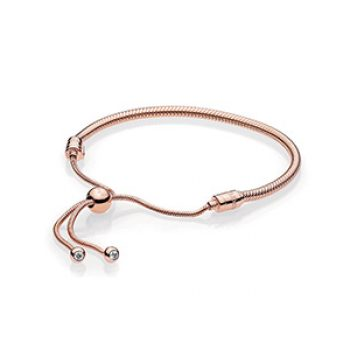 rose gold sliding bracelet - pandora - casual summer
