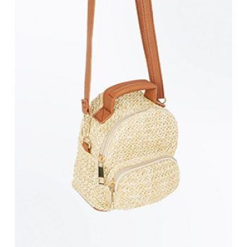 straw mini rucksack - new look - casual summer