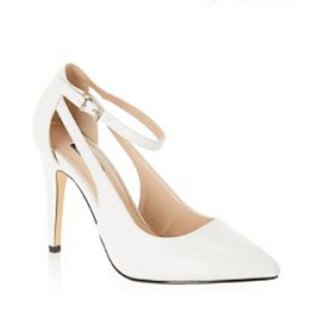 white leather high heel sandals - quiz - time to party