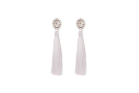 white tassle earrings - quiz - time to party