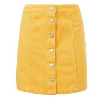 yellow denim skirt - new look - casual summer