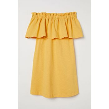 yellow dress - h&m - casual summer