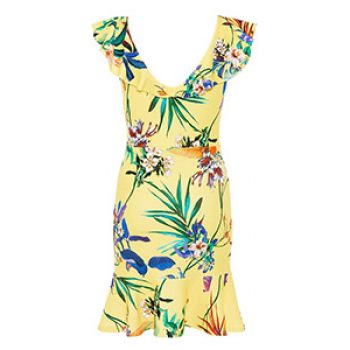yellow floral frill dress - quiz - time to party