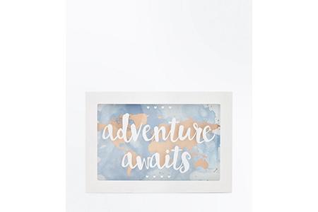 adventure awaits money box - new look - travel