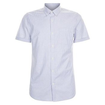 blue stripe mens shirt - new look - casual man