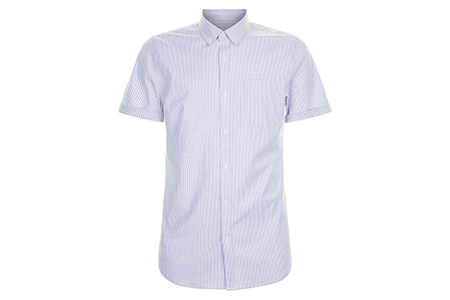 blue stripe mens shirt - new look - casual man