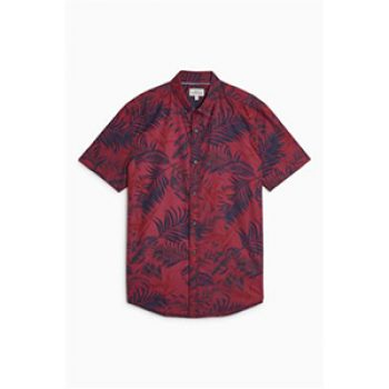 burgundy print shirt - next - smart man