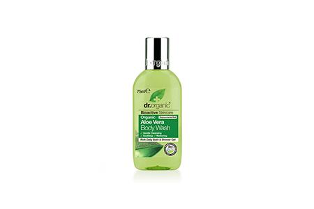 dr organic aloe vera body wash - h&b - travel