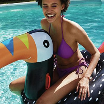 inflatable toucan - primark - travel