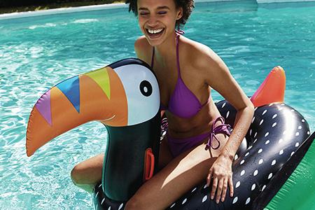 inflatable toucan - primark - travel
