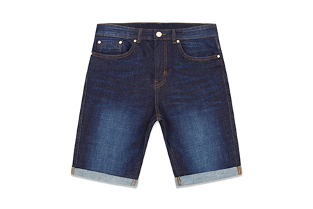 navy slim fit jean shorts - new look - casual man