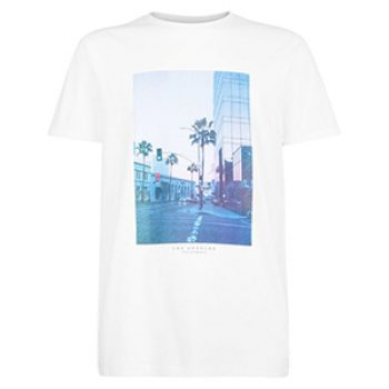 white la graphic print tee - new look - casual man