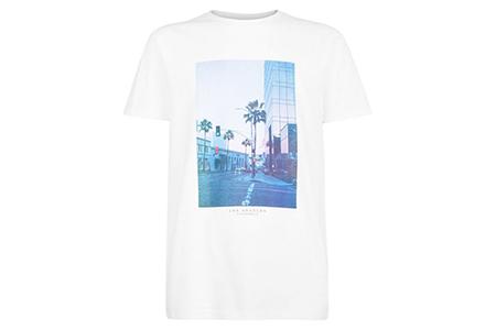 white la graphic print tee - new look - casual man