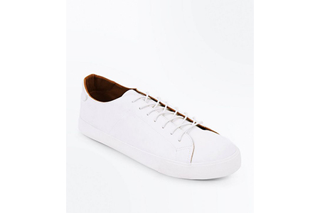 white lace up trainer - new look - casual man
