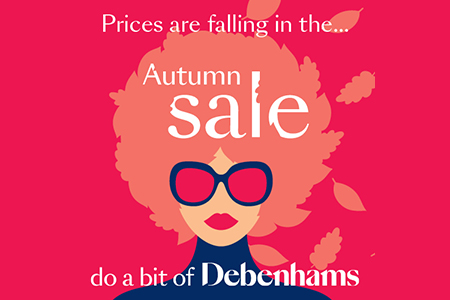 debenhams autumn sale