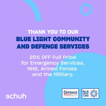 Schuh – Blue Light and Defence Discount!