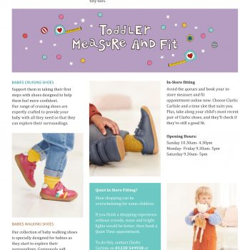 Clarks – The Little Feet Experts